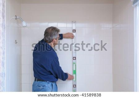 Bathroom renovation - stock photo