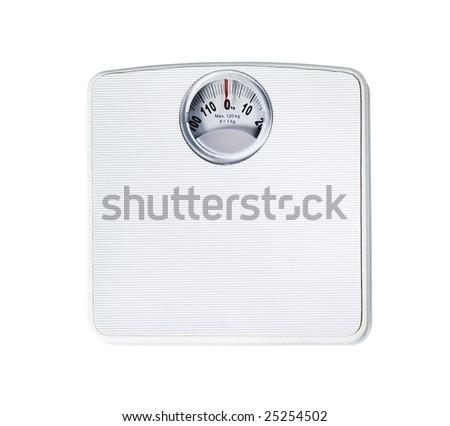 Bathroom scale - stock photo