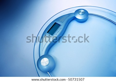 Bathroom scale - stock photo