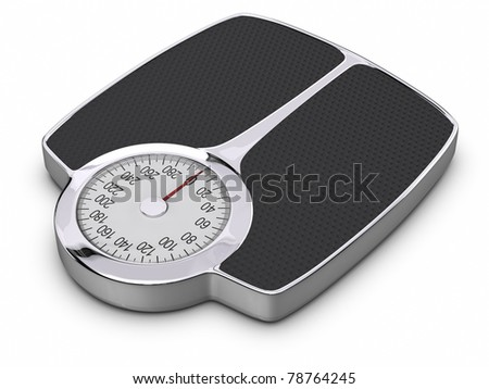 Bathroom Scale. Cliping path included. - stock photo