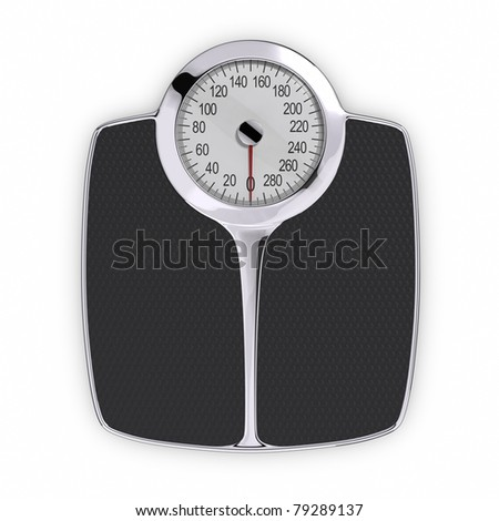 Bathroom Scale. Clipping path included. - stock photo