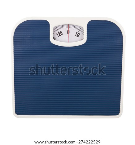bathroom scale isolated on a white background - stock photo