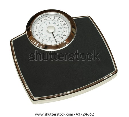 Bathroom scales isolated - stock photo