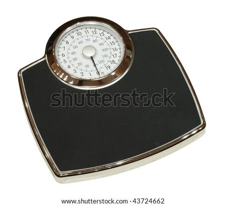 Bathroom scales isolated - stock photo