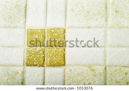 Bathroom tile background image - stock photo