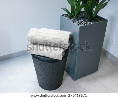 Bathroom towels for decoration - stock photo