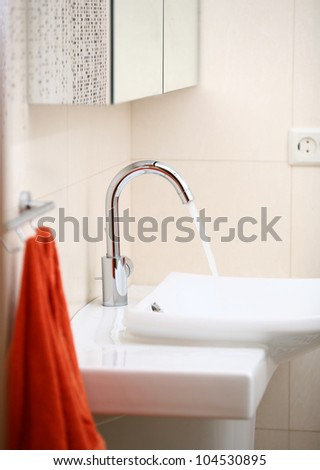 Bathroom washstand close-up