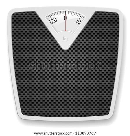 Bathroom Weight Scale. Illustration on white background - stock photo