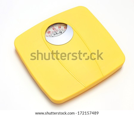 Bathroom Weight Scale on white