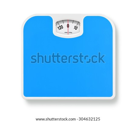 bathroom weight scale on white background