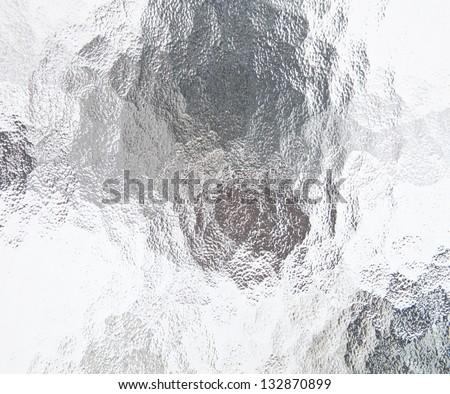 bathroom window glass - stock photo