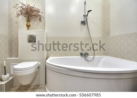 Beautiful Luxury Bathroom Interiors beautiful luxury marble bathroom interior in beige color royalty free stock images Bathroom With A Beautiful Interior