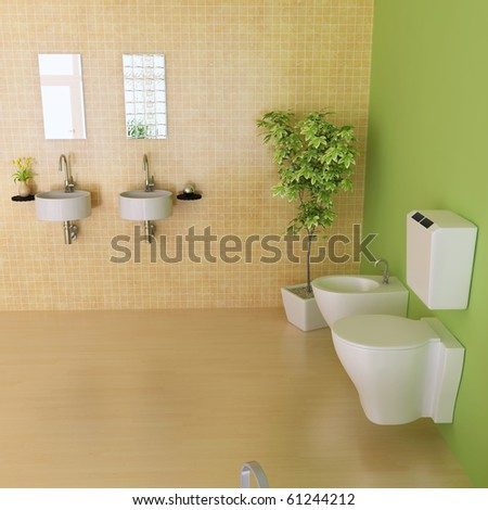 bathroom with modern style.3d render