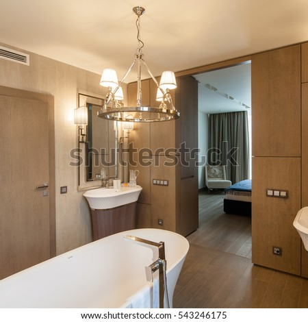 Bathroom Contemporary Apartment Interior Stock Photo 345998984 ...