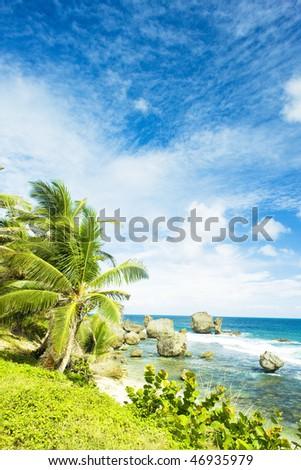 Bathsheba, East coast of Barbados, Caribbean - stock photo