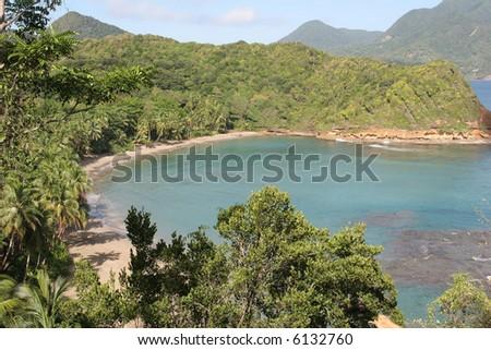 Batibou beach, Dominica, Caribbean - stock photo
