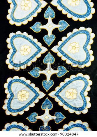 Batik design in modern love concept. - stock photo