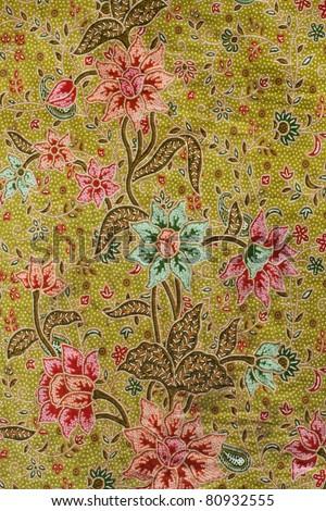 Batik design in Thailand - stock photo