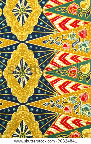 Batik design in traditional concept. - stock photo