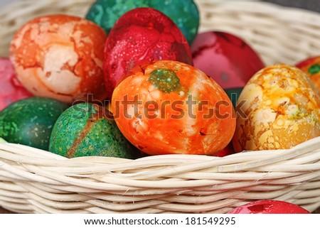 batik Easter eggs - stock photo