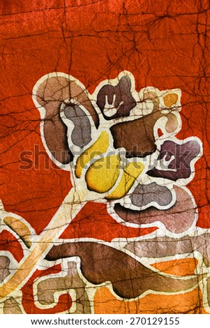 batik fabric texture - stock photo
