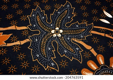 batik pattern - stock photo