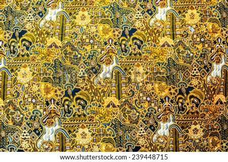 batik pattern design - stock photo
