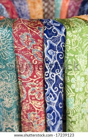 Batik sarongs - stock photo