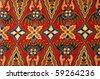 batik texture made in Malaysia - stock photo