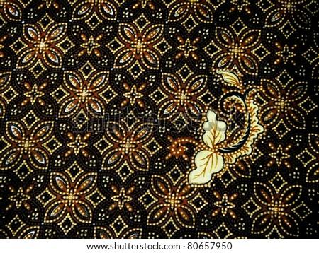 batik texture with dark color - stock photo