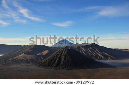 Batok and Bromo Volcano form East Java, Indonesia