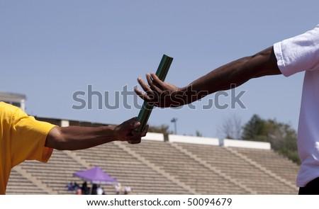 Baton pass - stock photo