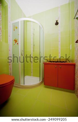 Batroom interior - stock photo