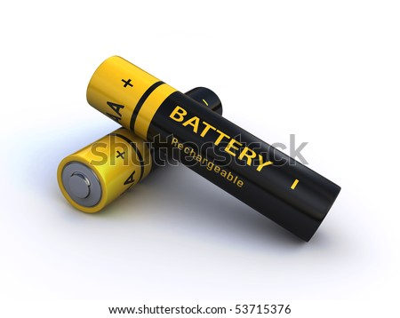 batteries - stock photo