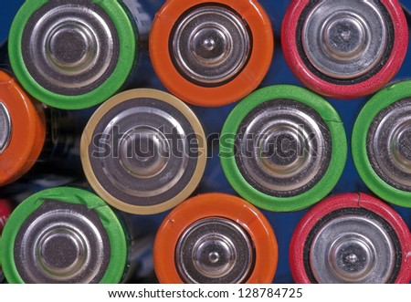 batteries cluster, group of  batterys