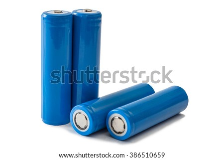 Batteries 18650 isolated on white background