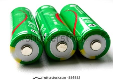 batteries,  no visible trademarks - stock photo