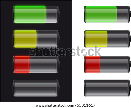 batteries on black and white