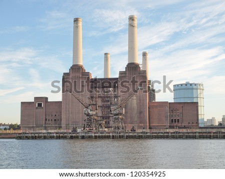 Battersea Power Station in London England UK