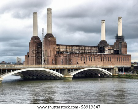 Battersea Power Station in London, England, UK - high dynamic range HDR