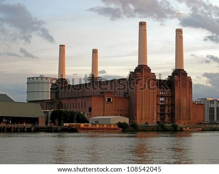 Battersea Power Station in London, United Kingdom - stock photo