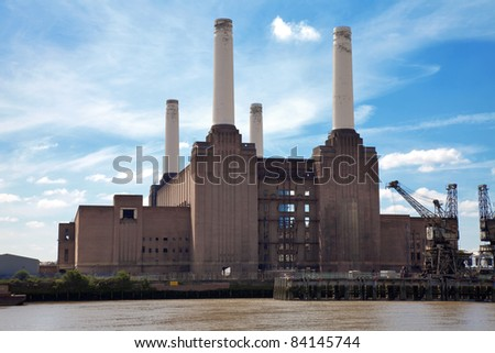 Battersea power station in London, United Kingdom