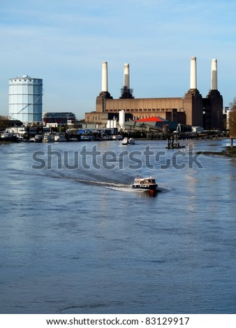 Battersea Power Station, London - stock photo