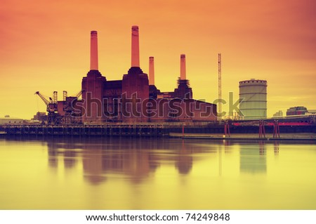 Battersea Power Station, London, UK. - stock photo