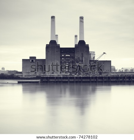 Battersea Power Station, London, UK - stock photo