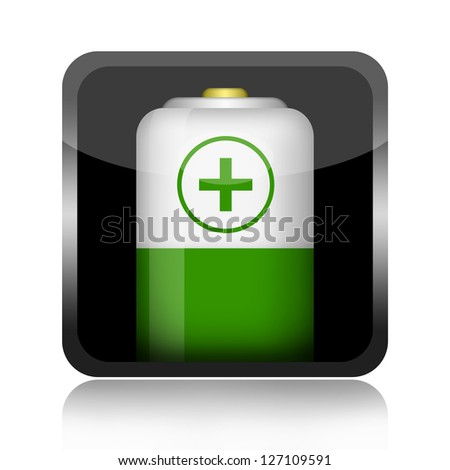 Battery button - stock photo