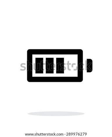 Battery charge simple icon on white background. - stock photo