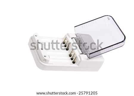 battery charger on white backogrund