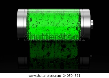 Battery concept - stock photo