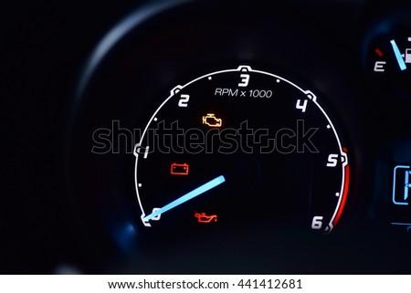 Batteryengine Oil Engine Light On Dashboard Stock Photo Download